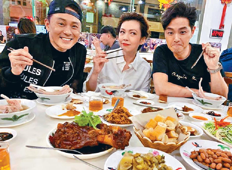 ■之前曹永廉、蕭正楠到新加坡探Kit及飯聚。