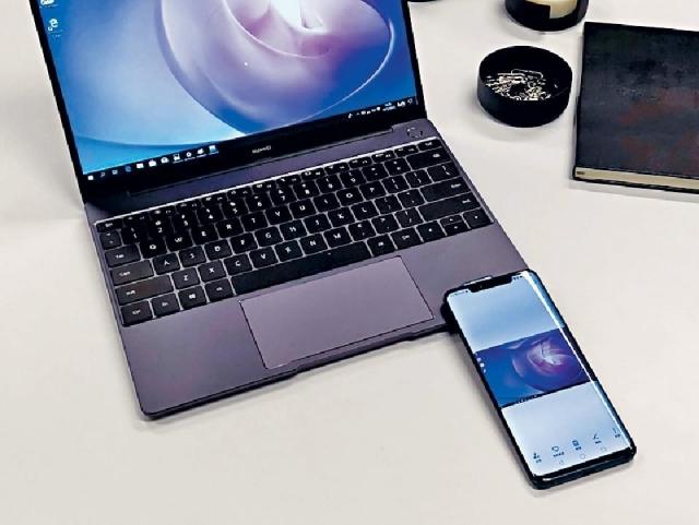 ■將已配對的HUAWEI手機放到圖案上觸碰,即可傳送影像至電腦。