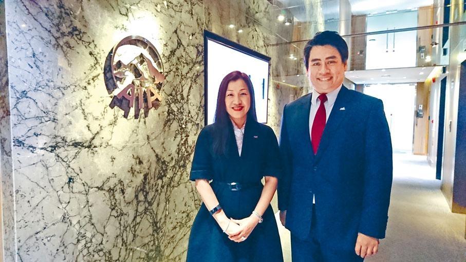 友邦香港及澳門企業業務、策略及財富管理總經理謝佩蘭 。
