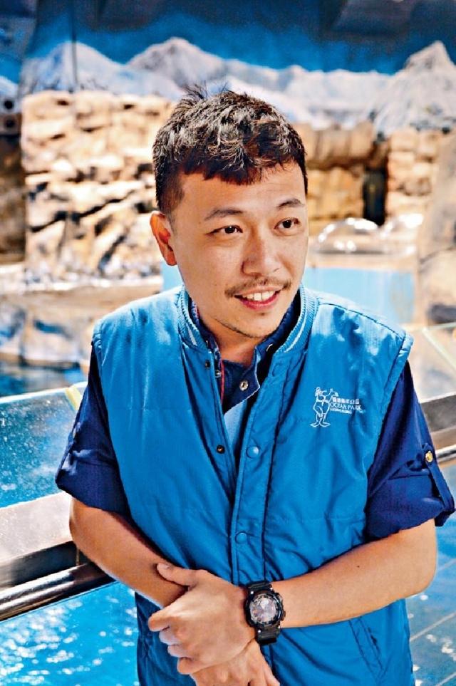 ■海洋公園高級海洋哺乳類動物監督Adam Yeung。