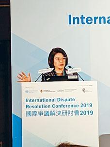譚允芝認為,本港在內地合資企業的仲裁調解問題上,可擔當重要角色。