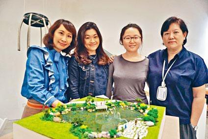 黃紀圖與楊桐通過「公共藝術」課程,設計圓形長椅與「傳聲筒」,日後有望在內地文化創意園區展出。