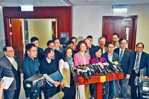 建制派譴責涂謹申主持會議的手法,葉劉淑儀更強烈譴責涂謹申「玩嘢」。