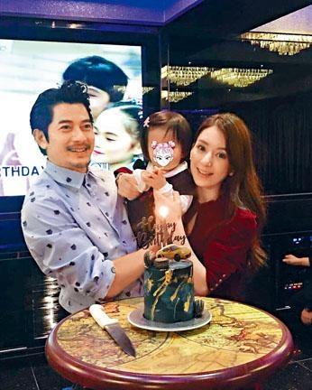 ■城城去年生日與妻女齊慶祝,如今家中再添一千金。