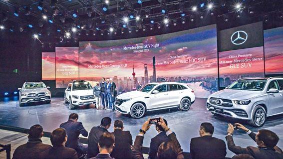 ●平治在上海車展發表多款SUV新車,包括GLE、純電動EQC,以及全球首次亮相Concept GLB。