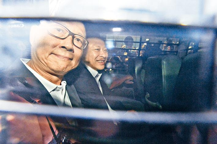 戴耀廷及陳健民早前被裁定煽惑公眾妨擾等罪名成立,昨日被判即時入獄。