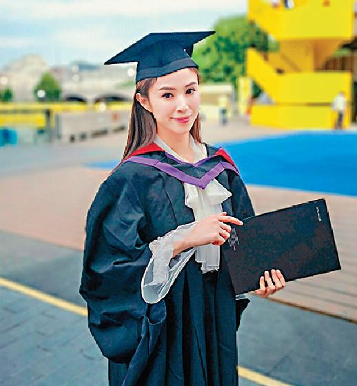 ■何倍倩攻讀的兩個碩士課程,去年終在美國畢業。
