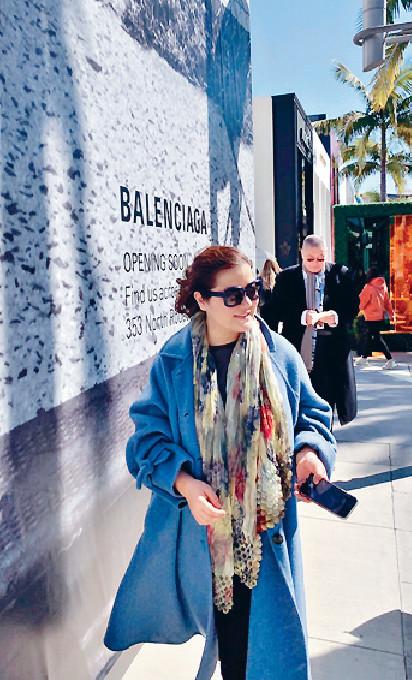 ■孫穎每逢到LA都愛到拍攝電影《風月俏佳人》的街道行街。