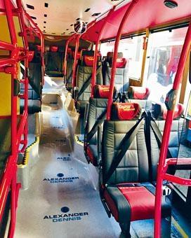 ■新巴士的乘客座位均設置三點式安全帶。