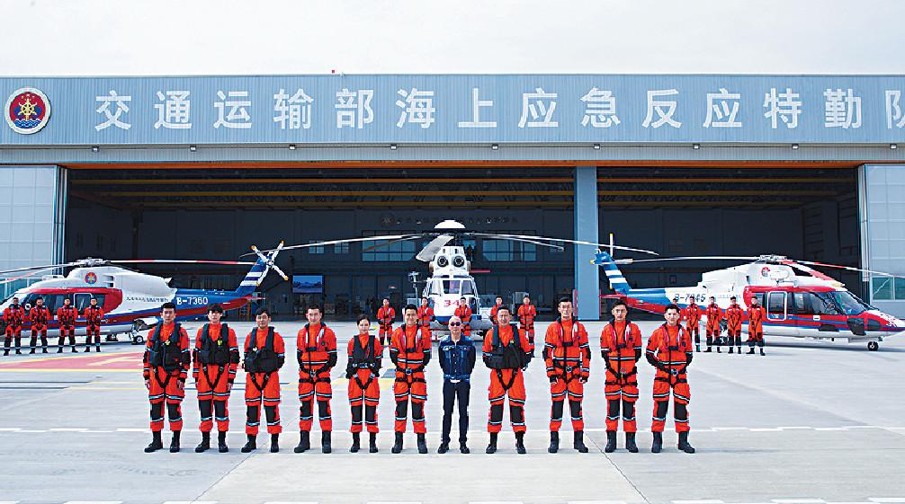 ■早前拍攝大隊,得到內地交通運輸部協助,借用福州海上應急反應特勤隊基地進行拍攝。