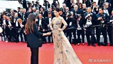 曾在《延禧攻略》演出丫環芝蘭的內地女星施予斐被指在紅氈不願離開。