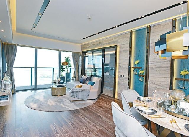 ■意堤8座16樓B室示範單位,間隔改為兩房連套房,面積1379方呎。