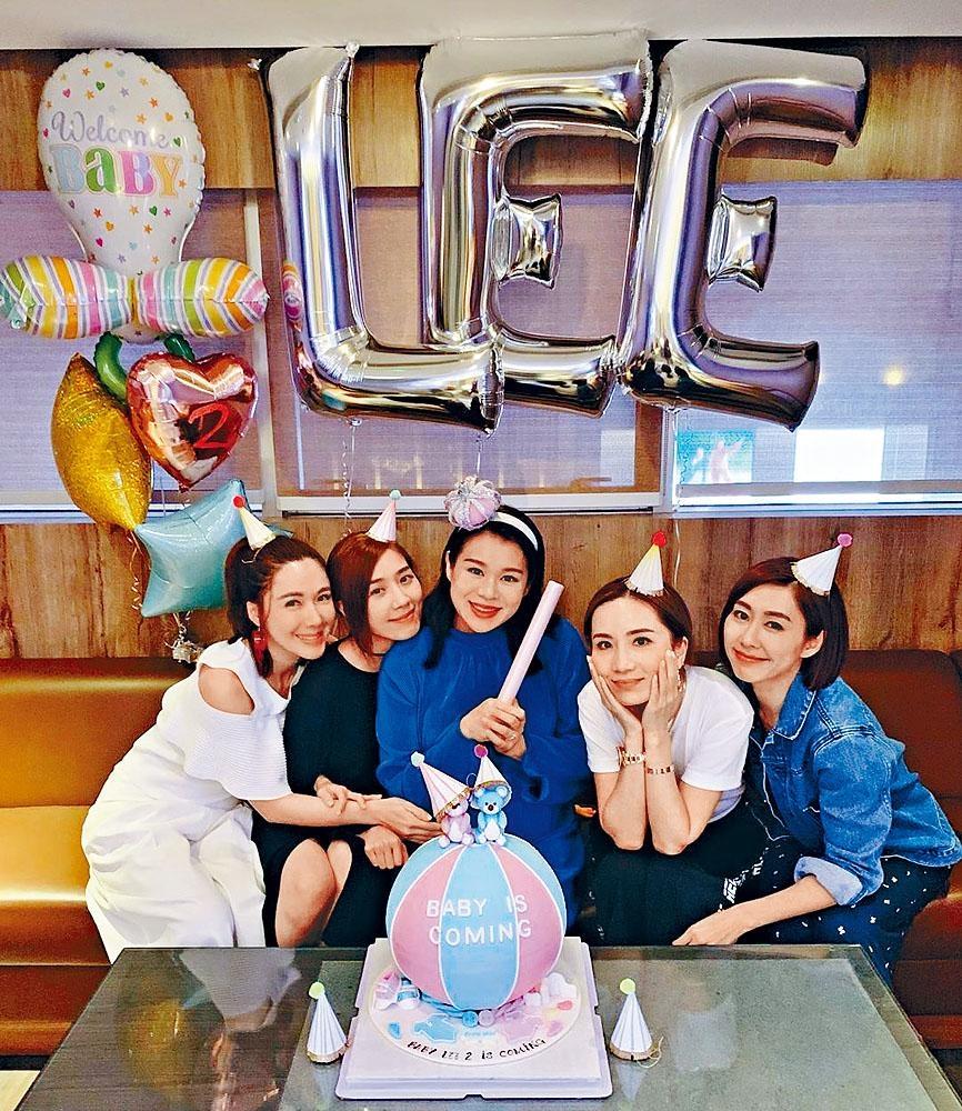 李施嬅、黃智雯、胡蓓蔚和胡定欣為杏兒大搞baby shower。
