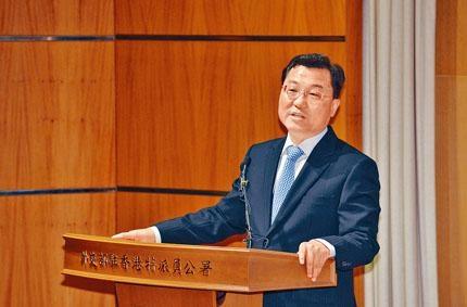 ■外交部駐港特派員謝鋒表示:「貿易戰沒有出路,合作是唯一正確選擇。」