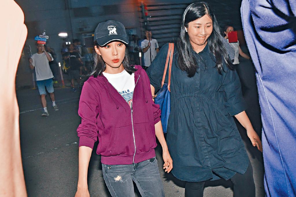 ■姚子羚昨晚為《唐人街》開工前,特別抽時間晤傳媒。