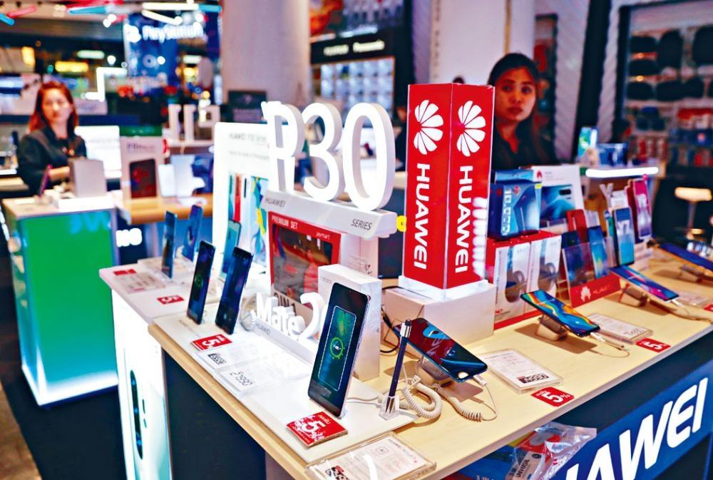 泰國曼谷華為手機櫃檯。