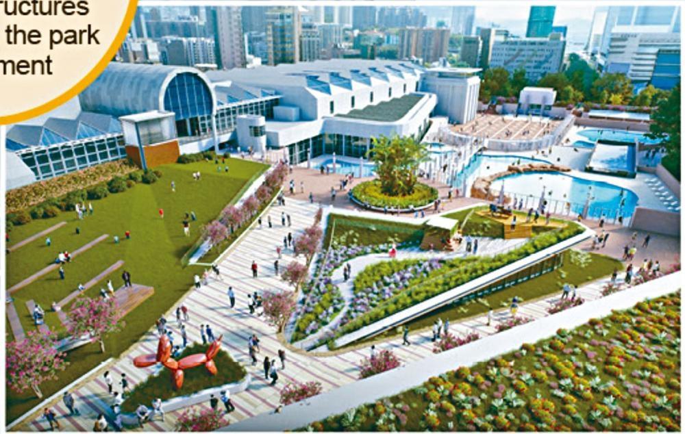 九龍公園優先發展地下空間,為公園增加四分之一面積。