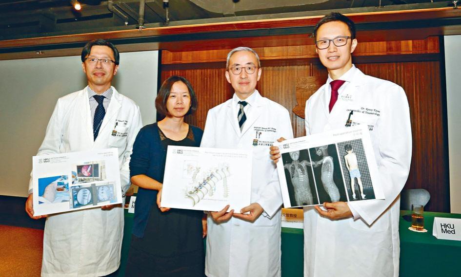港大團隊完成香港首宗以VBT技術進行的非融合脊柱側彎手術。