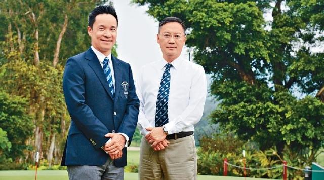 ■香港高爾夫球總會行政總裁賴以尊(右)和香港哥爾夫球會會長杜家駒(左)。