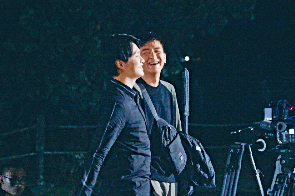 取笑Hubert ■馬明笑胡鴻鈞有替身肯定受TVB力捧,睇吓馬明笑到。