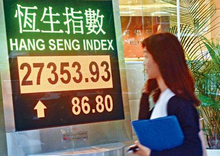 ■港股昨日收市扭轉跌勢。