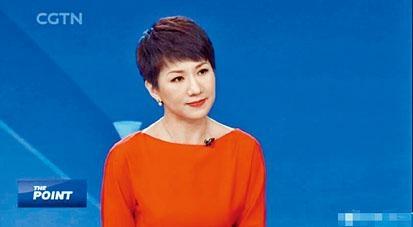 ■中國環球電視網女主持劉欣。