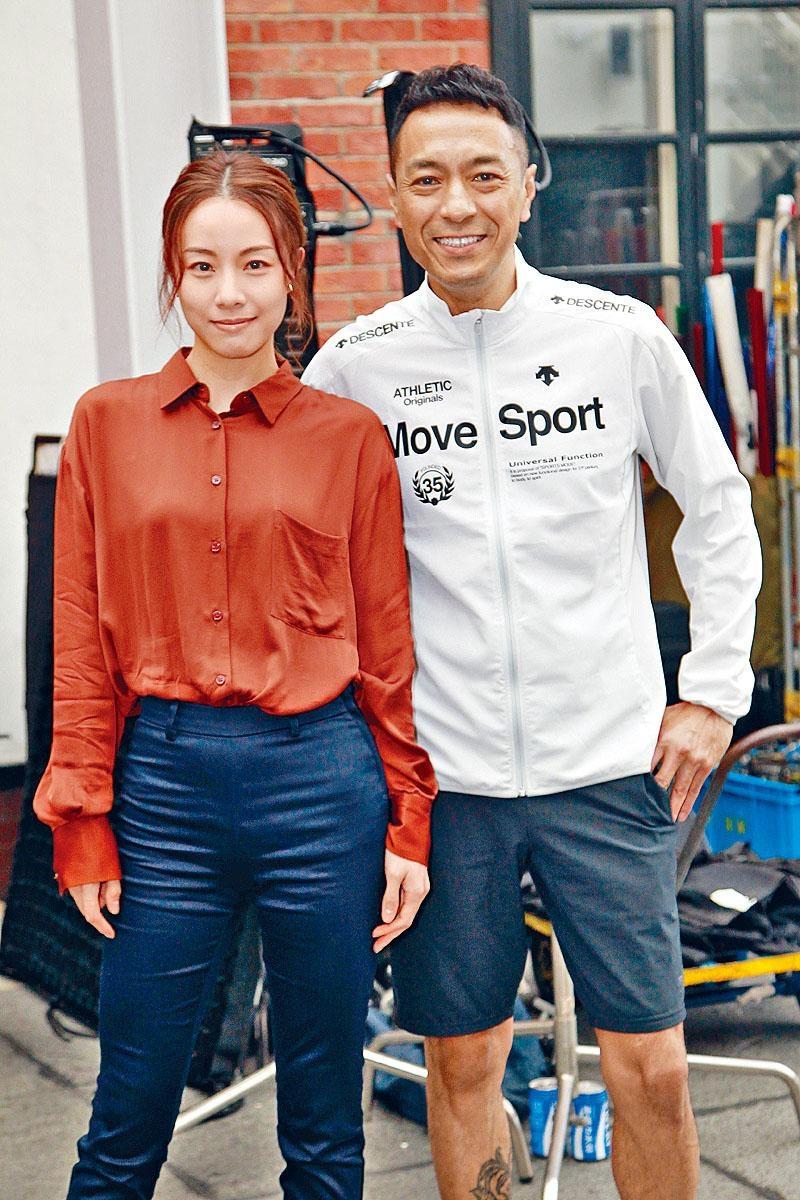 鄧麗欣與姜皓文在《殘影空間》中合作。