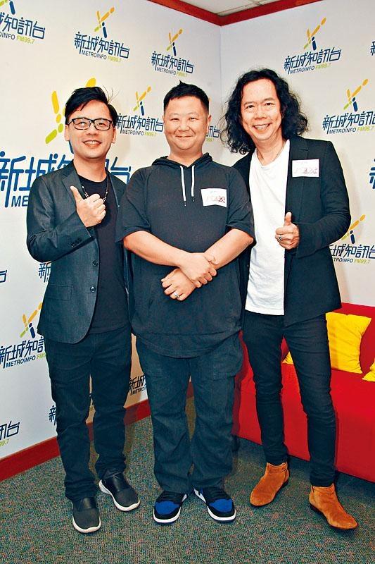 鄧建明、張家誠、甯浩基昨日為歌唱比賽擔任評判。