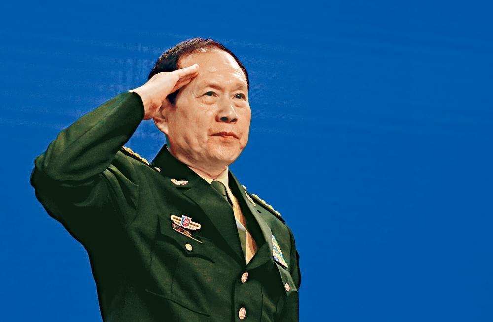 魏凤和在「香格里拉对话」安全论坛上,为台湾事件上发出强硬演辞。