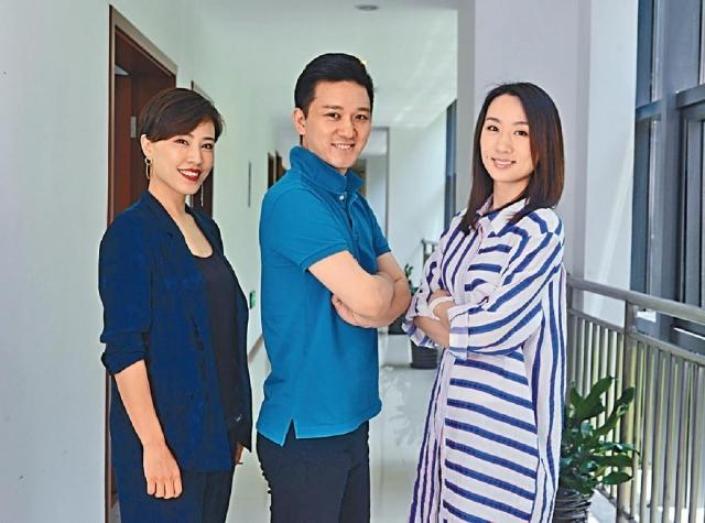 ■(左起)京劇演員馮蘊、傅希如和高紅梅。