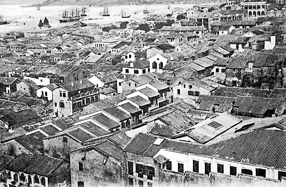十九世紀末的太平山區面貌。(黑白相片)