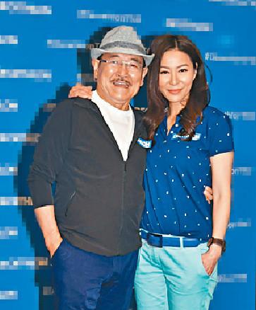 ■滕麗名和劉丹昨齊出席運動用品店活動。