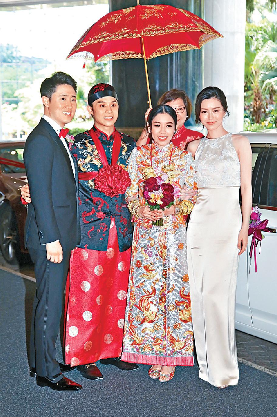 ■Carmen在好姊妹JM陪同下笑容燦爛出嫁。