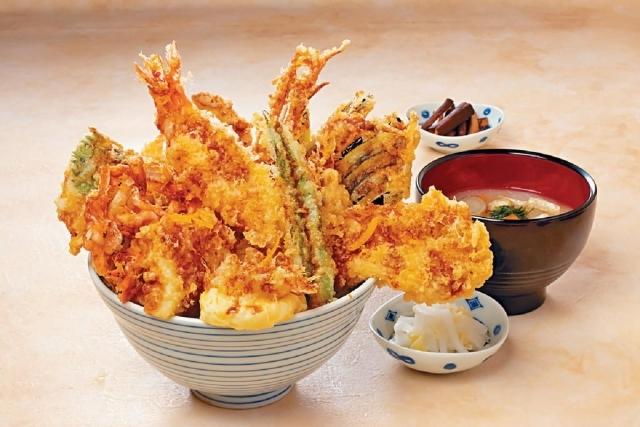All Star丼 $108 ■一碗天丼有齊海鮮、肉類及蔬菜,豐富多元,包羅萬有。