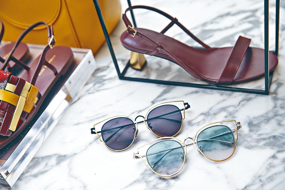 Charles & Keith鏤空貓眼金屬框太陽眼鏡/各/$499,獨特的外鏡框設計,凸顯外形綫條。