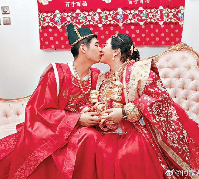 ■何超盈與未婚夫日前過大禮,排場超豪。資料圖片