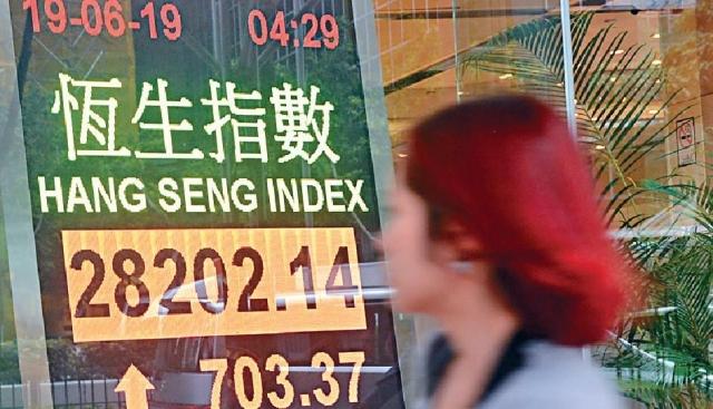 港股昨天收報28202點,急漲703點,創逾七個月以來最大單日升市。