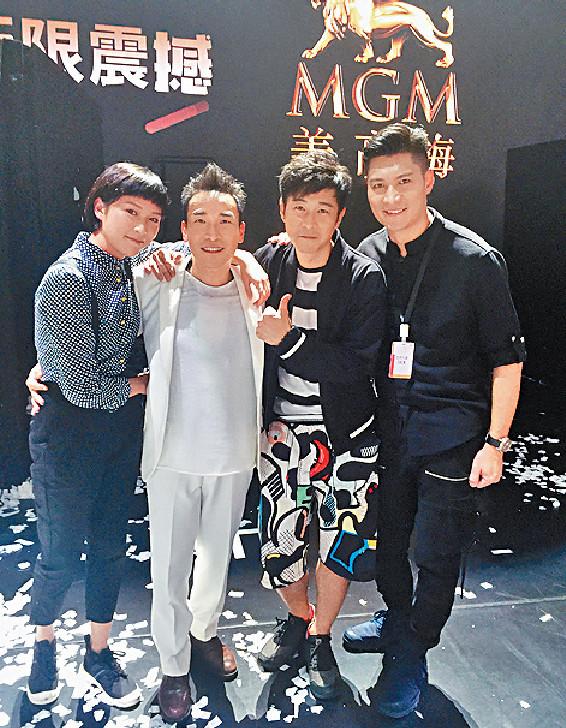 ■同公司的周俊偉、蔣祖曼和羅雲龍齊撐泰臣場。