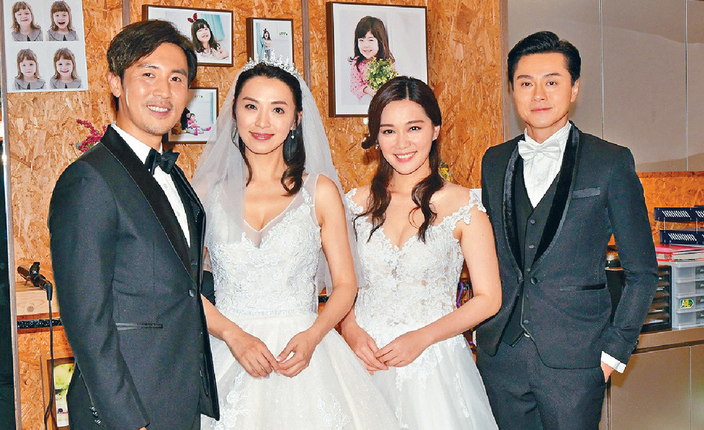 ■譚俊彥、陳煒、湯洛雯、黃浩然補拍結婚場口。