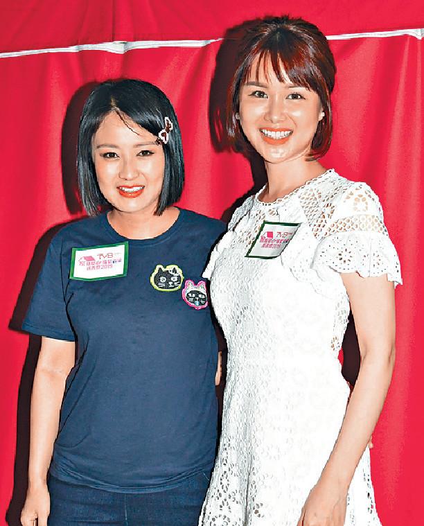 ■劉思希(右)和陳倩揚昨日齊為慈善出力。