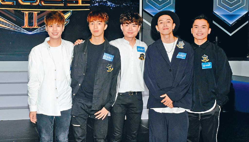 ■左起:王焯南、黃浚銘、Cotton、梁德忠及趙敬賢可以直入60強。