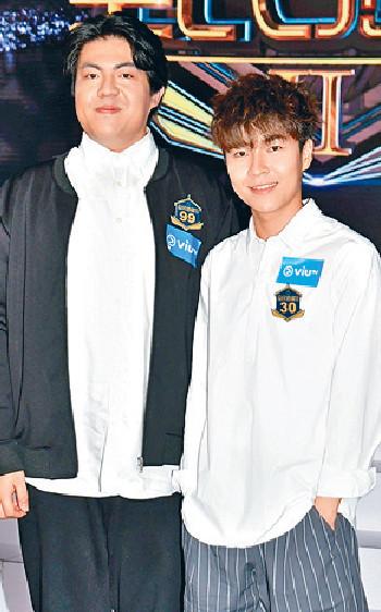 ■肥文(左)與英健朗亦十分搶鏡。