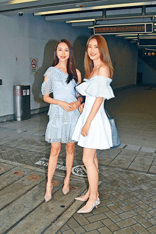 貌似郭可盈的Carmaney曾參選過2018國際小姐,圖右蔡嘉欣是KOL,高挑清秀。