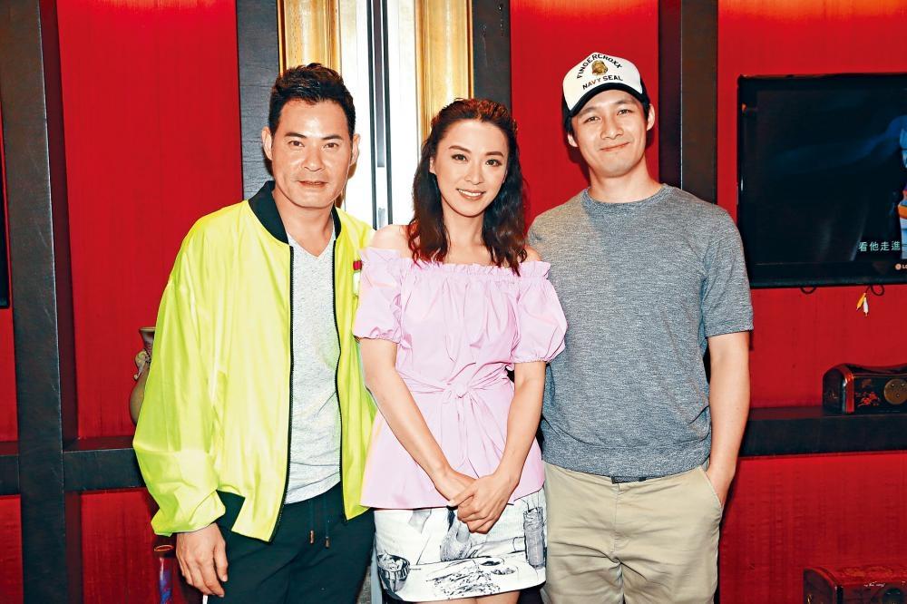 (左起)黃智賢、陳煒與翟威廉,出席新劇《好日子》首播飯局。