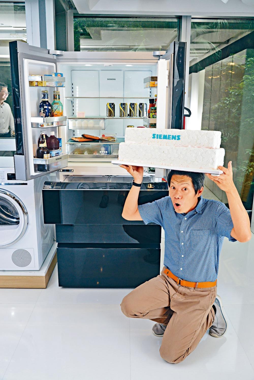 除了保鮮格有新技術保鮮外,新雪櫃容量達三百五十九公升,毋須移動間格,也可放進雙層蛋糕。