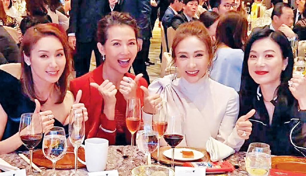 ■她跟黎姿、蔡少芬、郭可盈係昔日TVB同期花旦,其中三人已為人母。