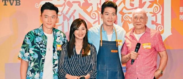 ■(左起)楊明、麥美恩、黎諾懿及李家鼎宣傳無線新節目。