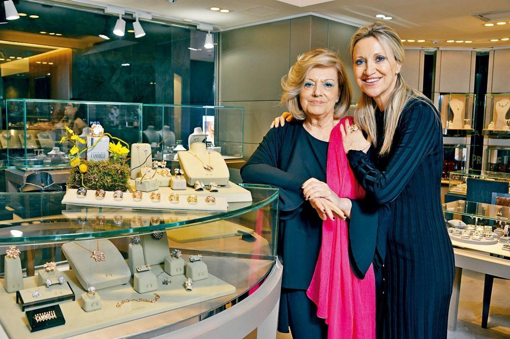 品牌同名創辦人Annamaria Cammilli/左及其女兒兼品牌Design & Production Director Raffaella Renai/右。