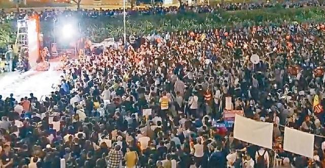 民陣反修例集會逼爆愛丁堡廣場