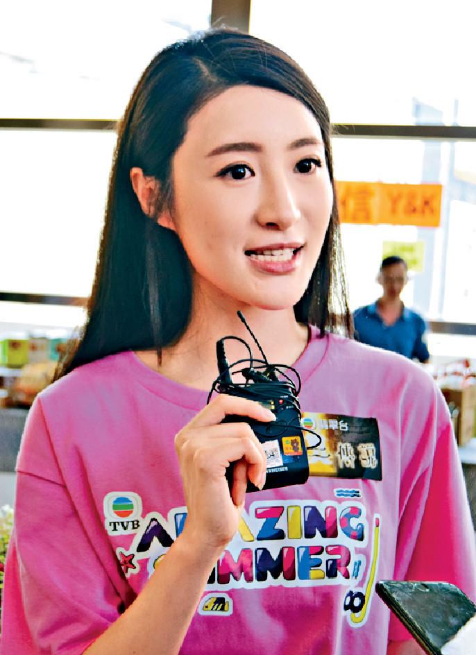 唔知停拍 ■林夏薇日前出席TVB記招時表示唔知網劇已停拍。